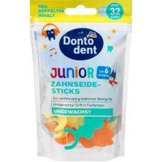 Зубные нити детские DONTODENT, 32 шт. (Германия)