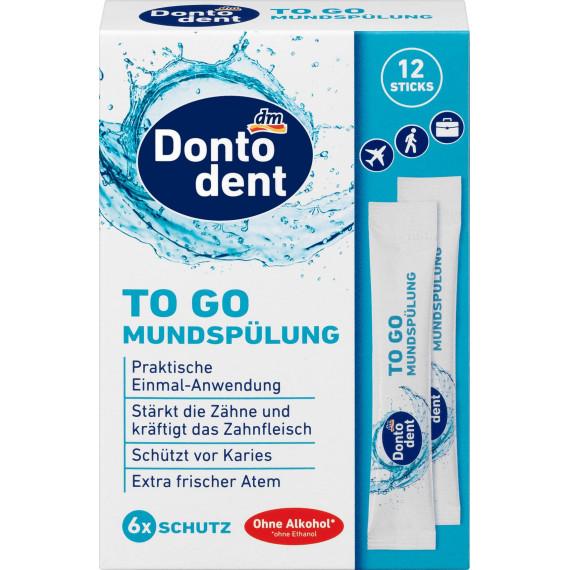 Средство для полоскания рта TO GO Dontodent, 120 мл (Германия) -