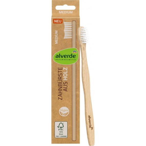 Деревянная зубная щетка alverde NATURKOSMETIK, 1 шт. (Германия) -