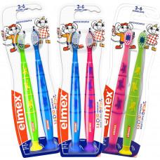 Зубная щетка для детей, 3 - 6 лет elmex, 2 шт (Германия)