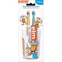 Набор для детей от 0-2 лет с 2х зубной щеткой, зубной пастой 20 мл и 1ю чашкой elmex, 1 шт (Германия)