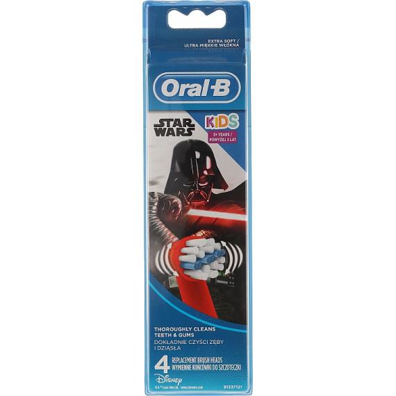 Насадки для зубных щеток детские Star Wars Oral-B, 4 шт. (Германия) -